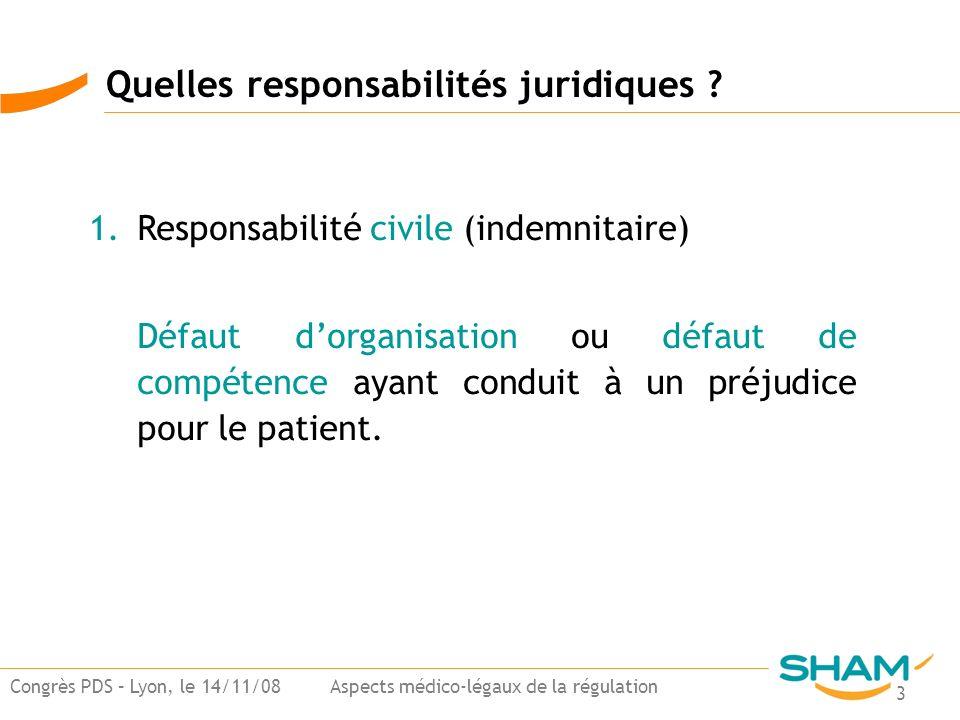 Quelles responsabilités juridiques