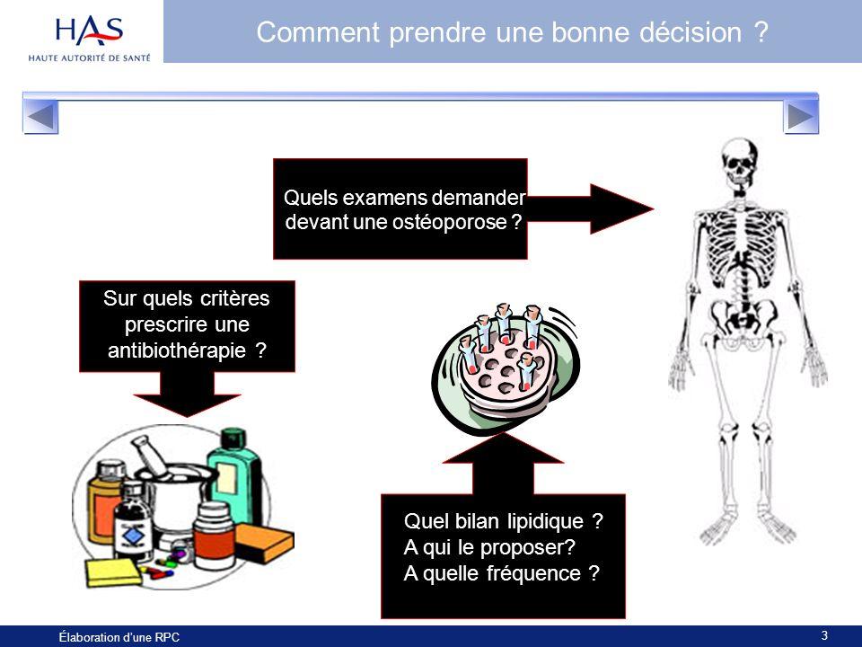 u00c9laboration d u2019une recommandation de pratique clinique  rpc