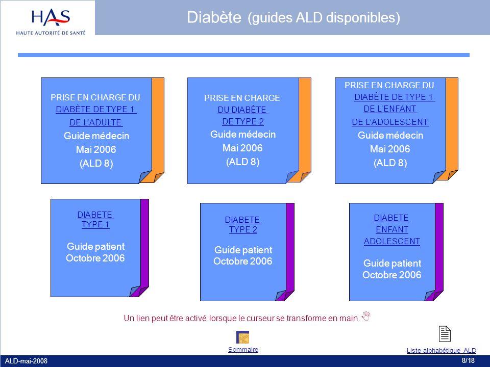 Diabète (guides ALD disponibles)