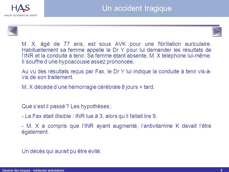 Un accident tragique