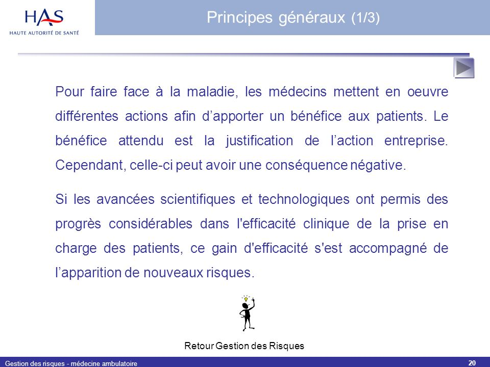 Principes généraux (1/3)