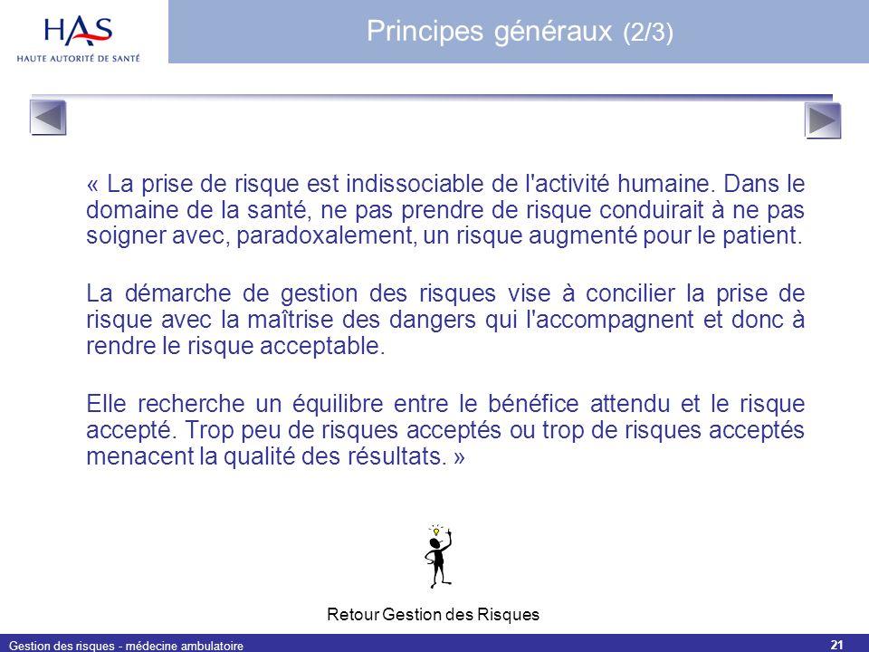 Principes généraux (2/3)
