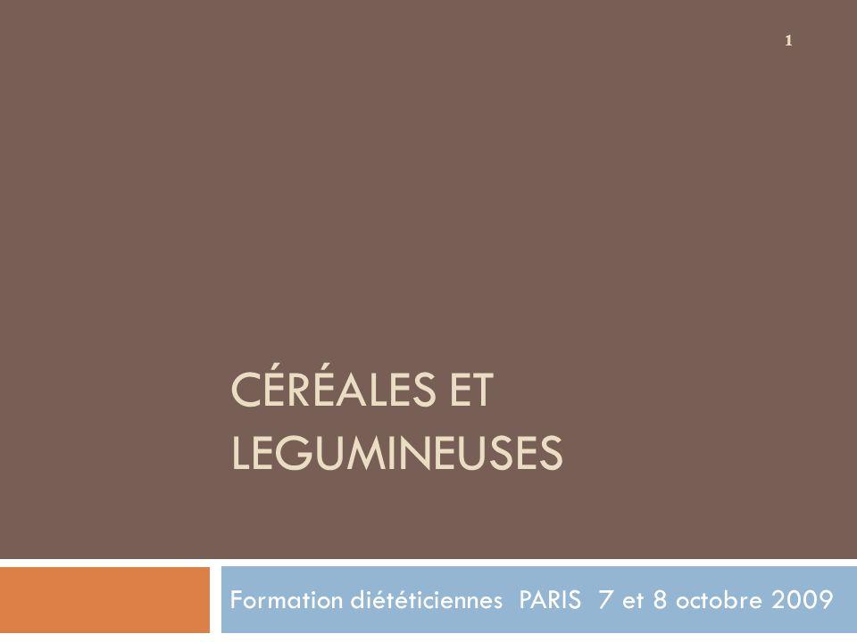 Céréales et legumineuses