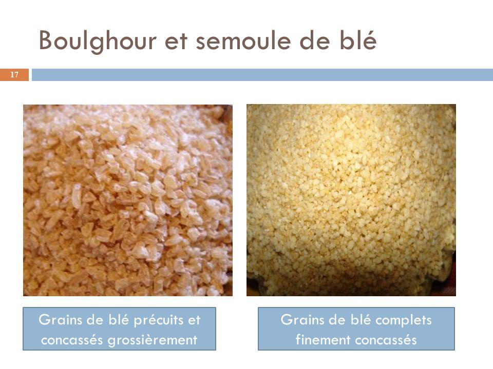 Boulghour et semoule de blé