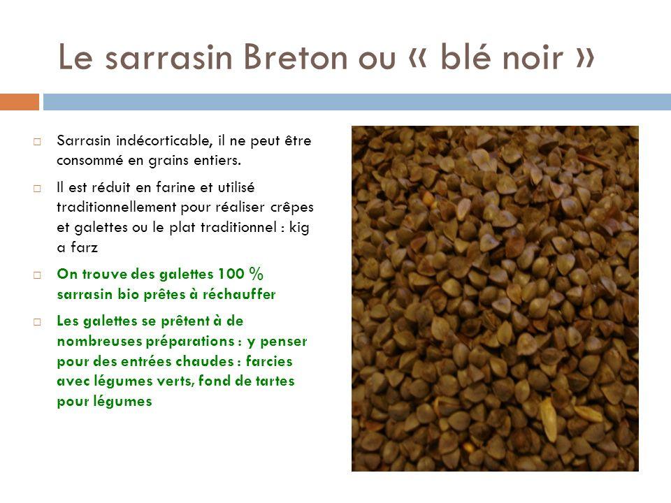 Le sarrasin Breton ou « blé noir »