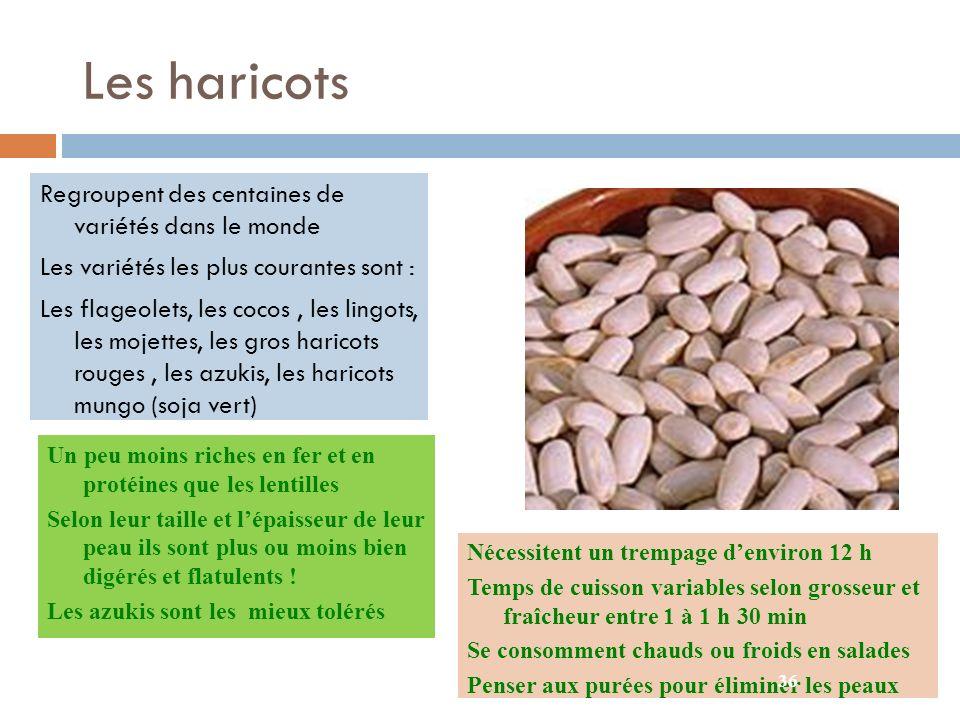Les haricots Regroupent des centaines de variétés dans le monde