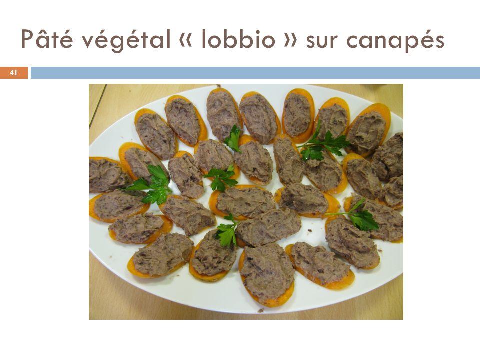 Pâté végétal « lobbio » sur canapés