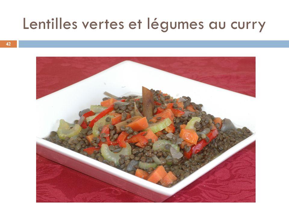 Lentilles vertes et légumes au curry