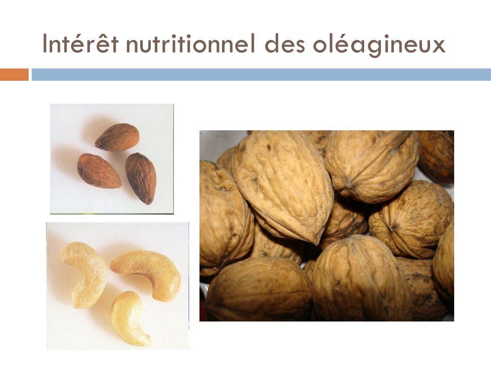 Intérêt nutritionnel des oléagineux