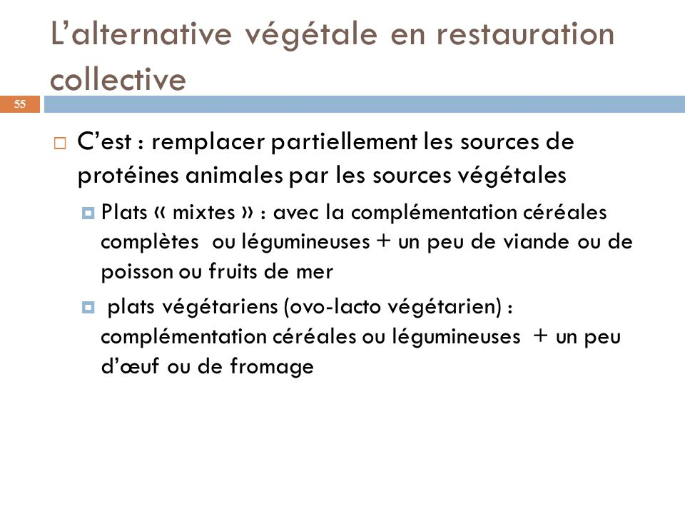 L'alternative végétale en restauration collective