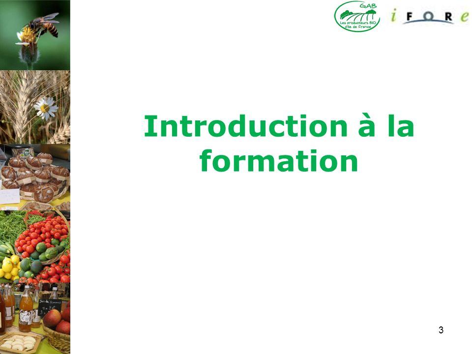 Introduction à la formation