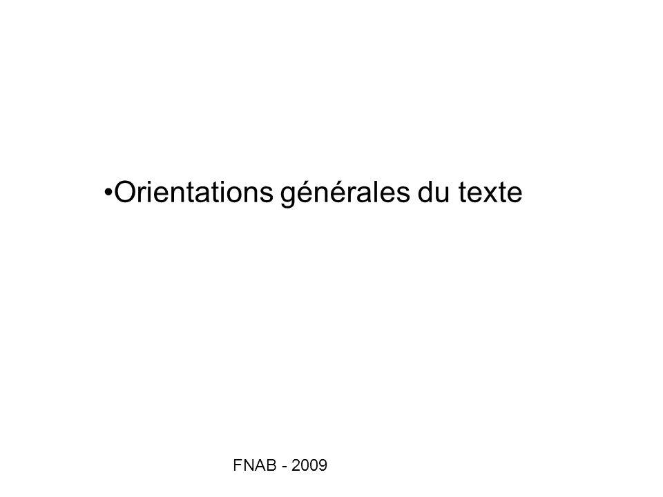 Orientations générales du texte