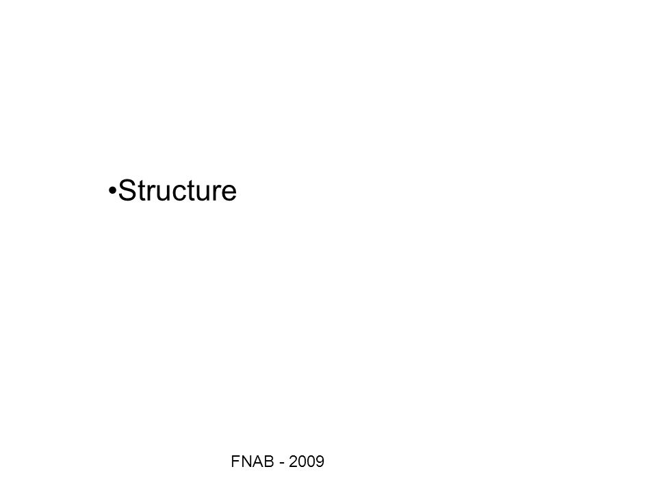 Structure FNAB - 2009