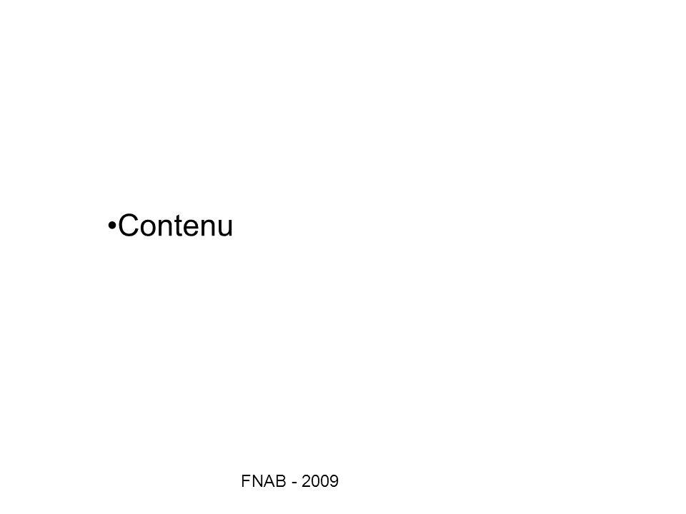 Contenu FNAB - 2009