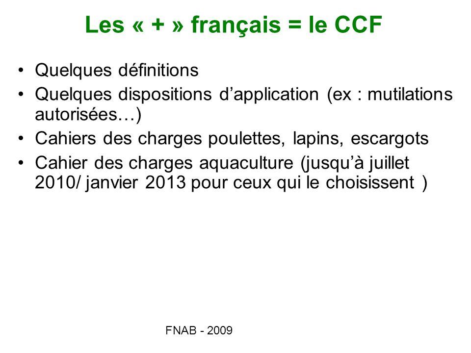 Les « + » français = le CCF