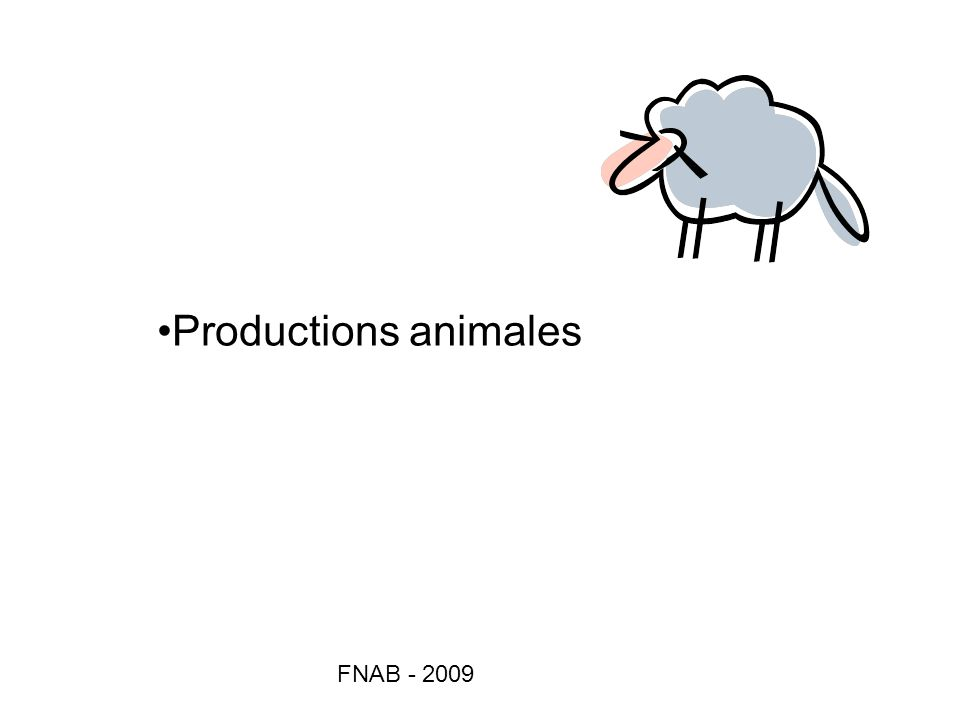 Productions animales FNAB - 2009