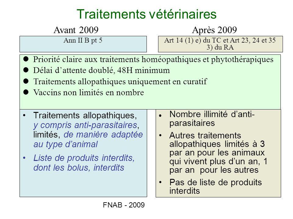 Traitements vétérinaires