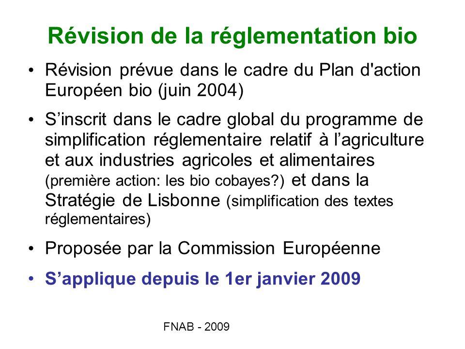 Révision de la réglementation bio