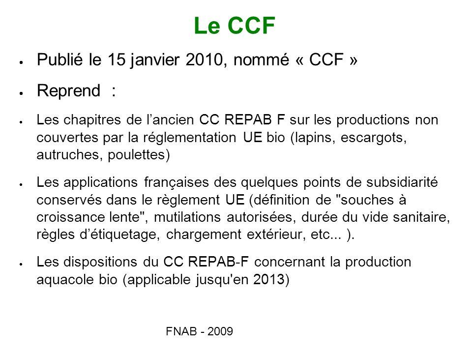 Le CCF Publié le 15 janvier 2010, nommé « CCF » Reprend :