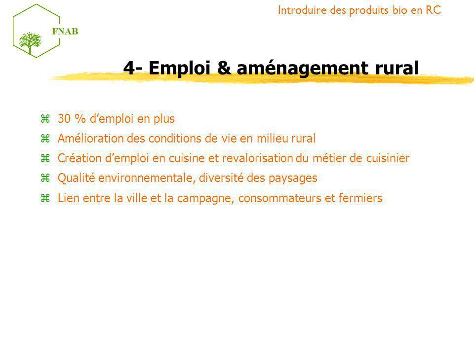 4- Emploi & aménagement rural