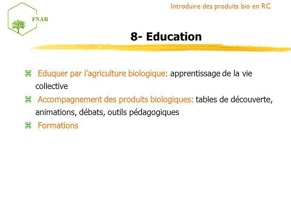 Introduire des produits bio en RC