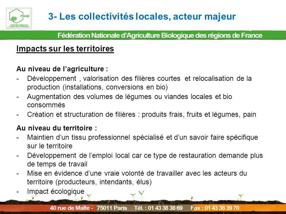 3- Les collectivités locales, acteur majeur