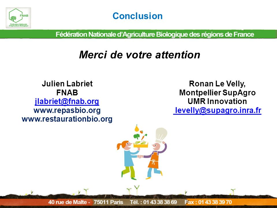 Merci de votre attention Montpellier SupAgro UMR Innovation