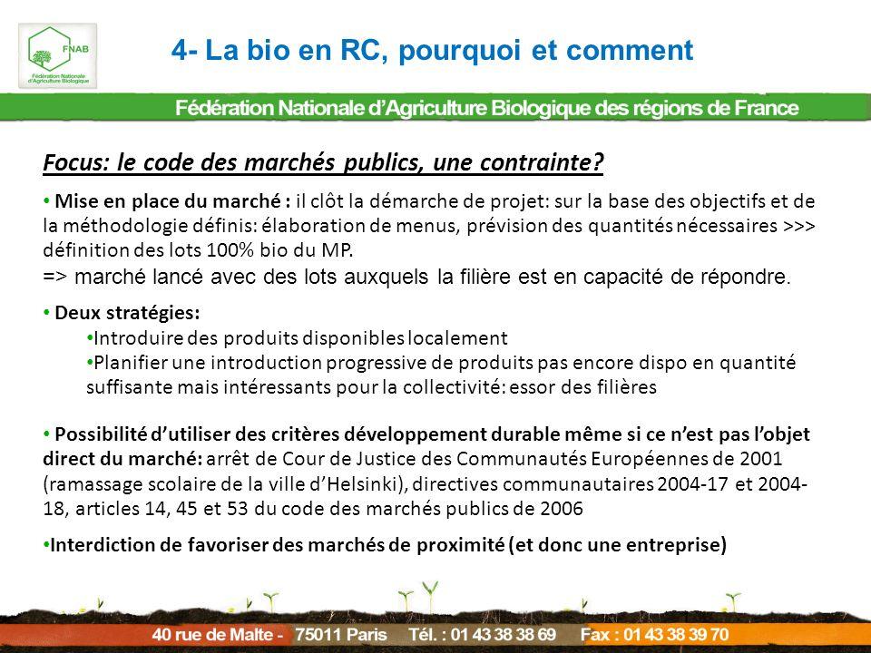 4- La bio en RC, pourquoi et comment