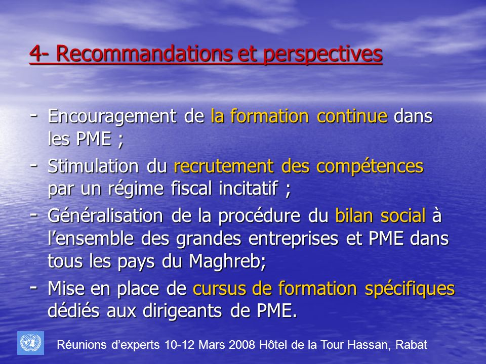 4- Recommandations et perspectives