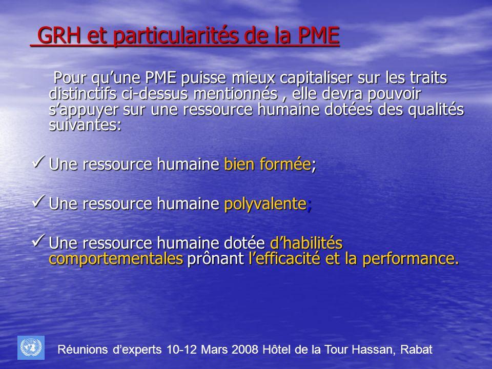 GRH et particularités de la PME