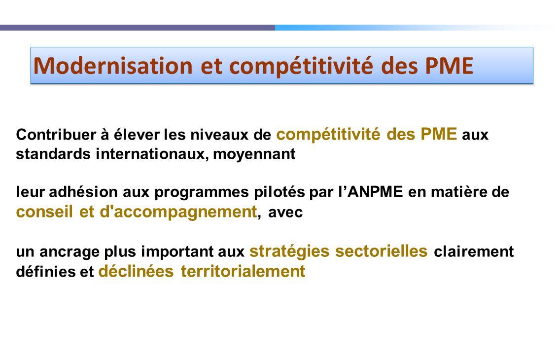 Modernisation et compétitivité des PME