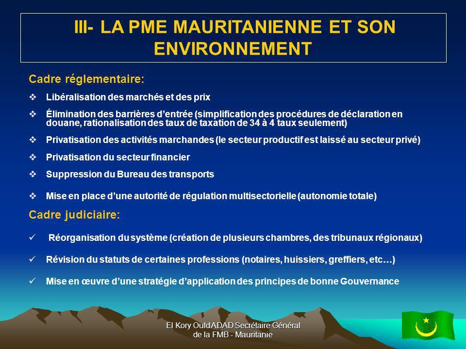 III- LA PME MAURITANIENNE ET SON ENVIRONNEMENT