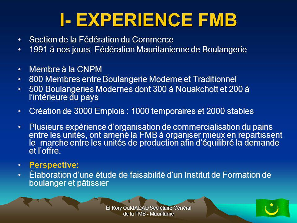 El Kory Ould ADAD Secrétaire Général de la FMB - Mauritanie