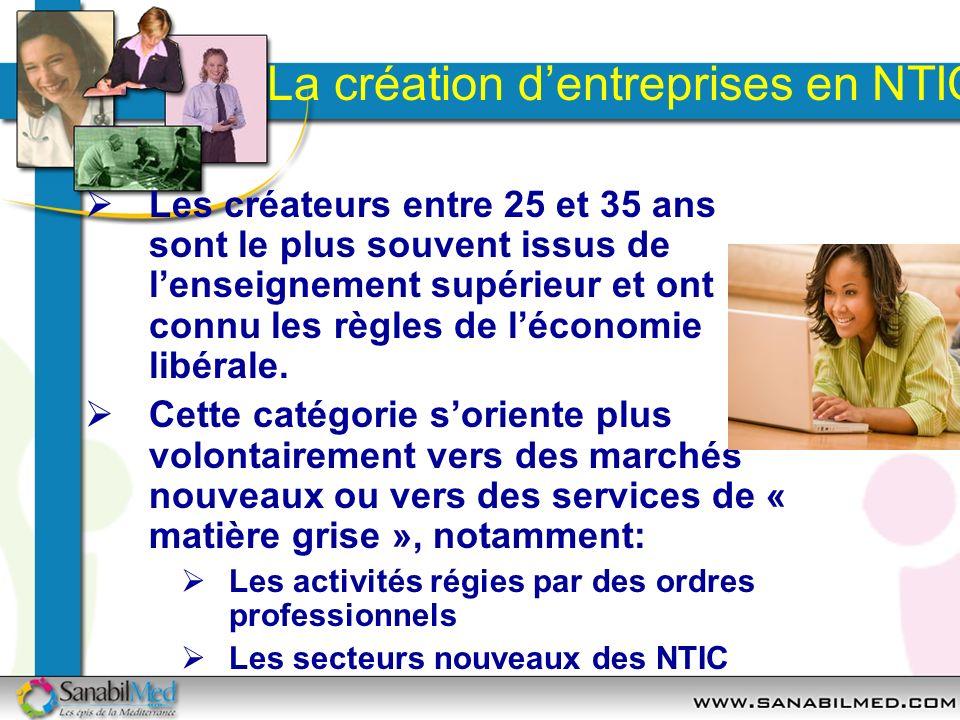 La création d'entreprises en NTIC