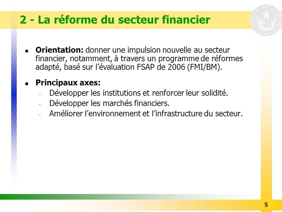 2 - La réforme du secteur financier