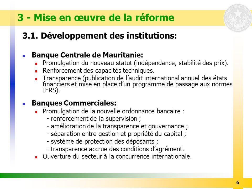 3 - Mise en œuvre de la réforme