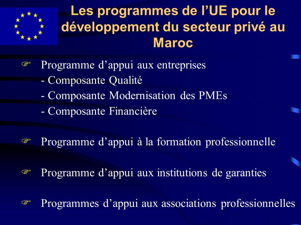 Les programmes de l'UE pour le développement du secteur privé au Maroc