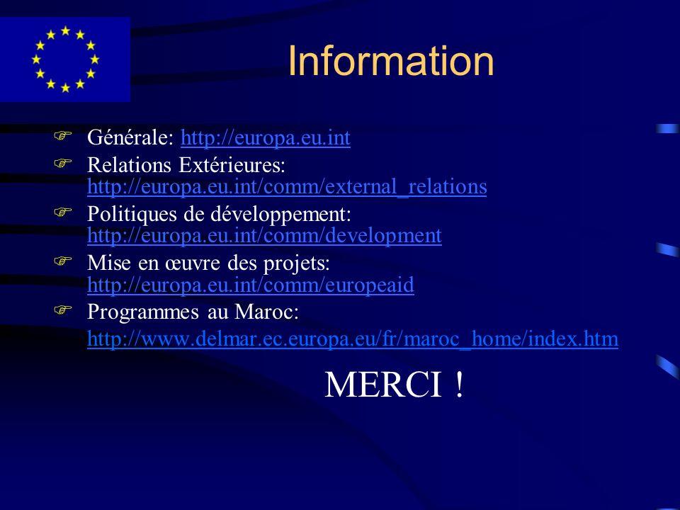 Information Générale: http://europa.eu.int