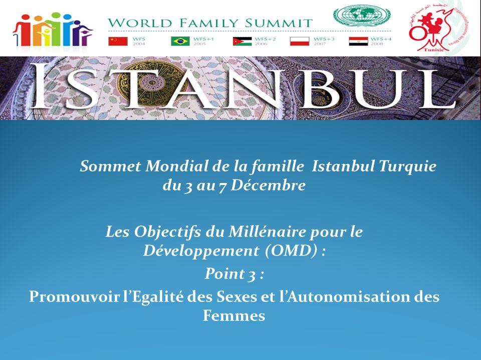 Sommet Mondial de la famille Istanbul Turquie du 3 au 7 Décembre