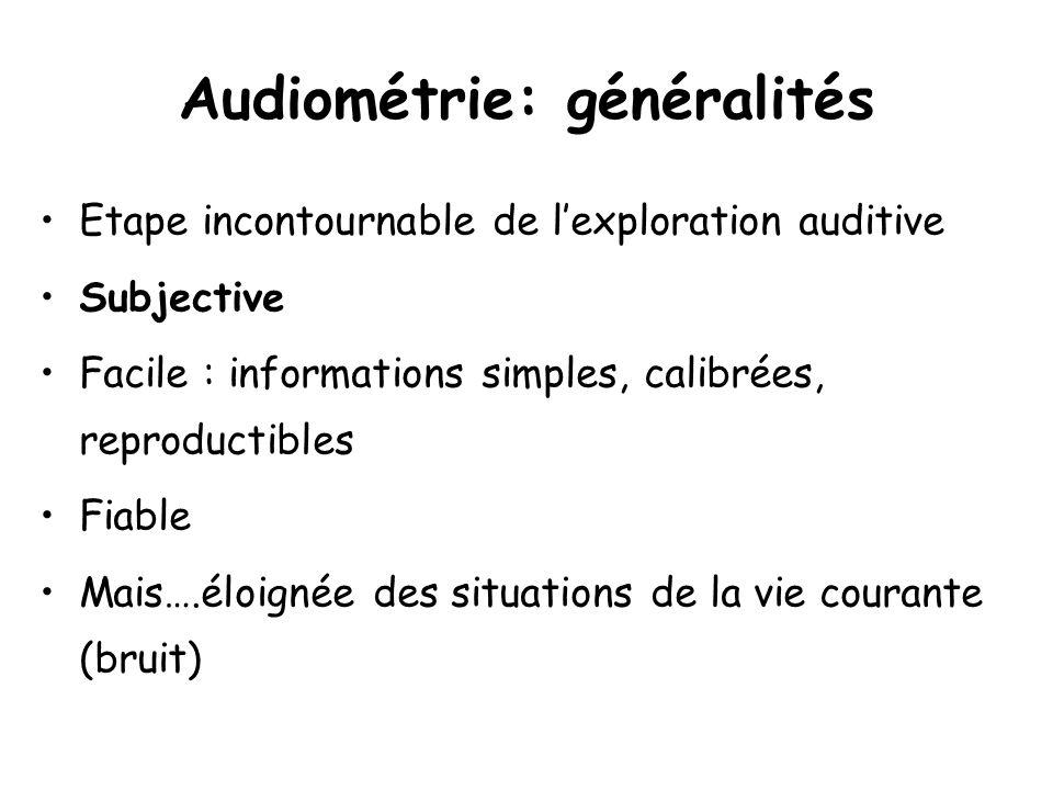 Audiométrie: généralités