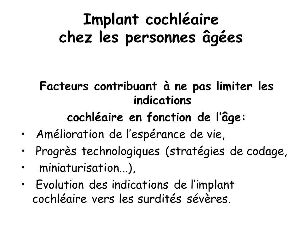 Implant cochléaire chez les personnes âgées