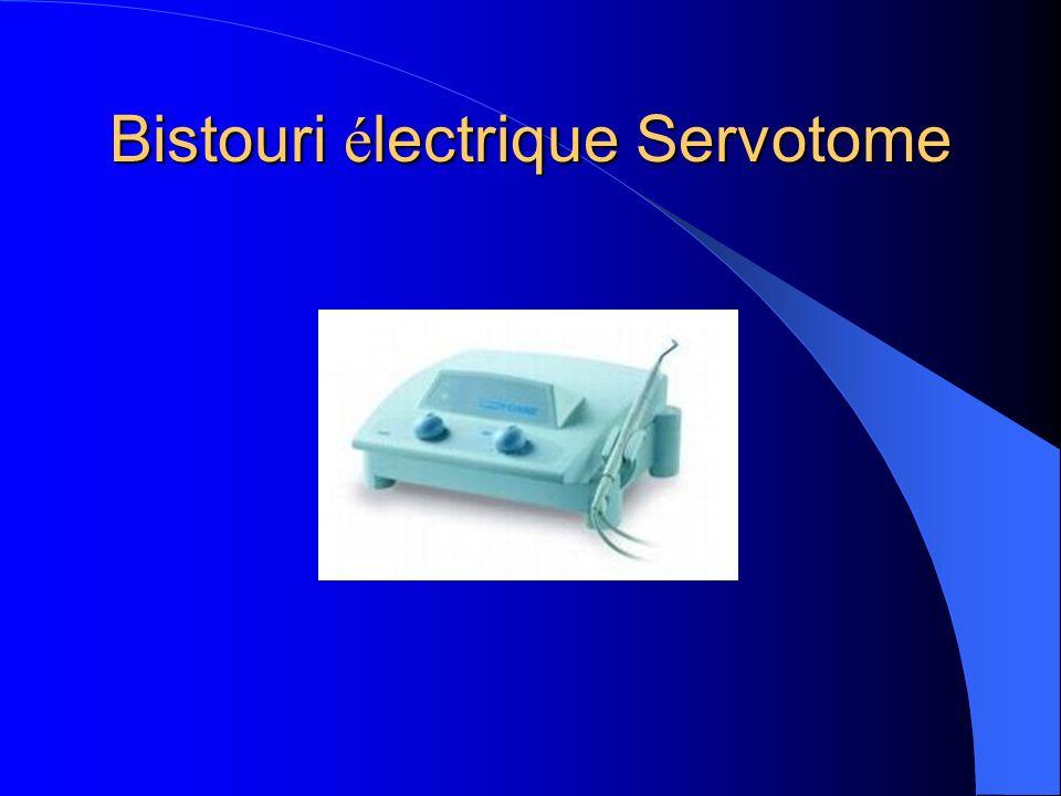 Bistouri électrique Servotome