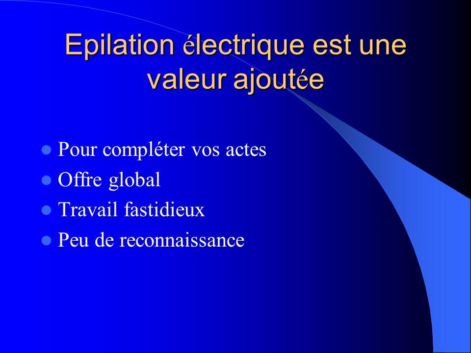 Epilation électrique est une valeur ajoutée
