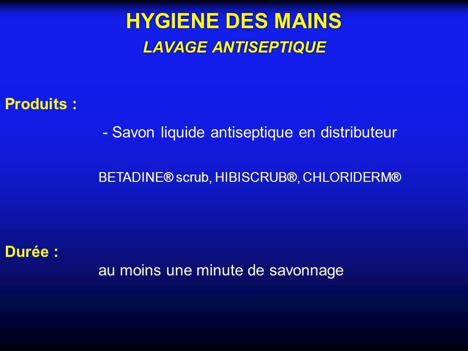 HYGIENE DES MAINS LAVAGE ANTISEPTIQUE