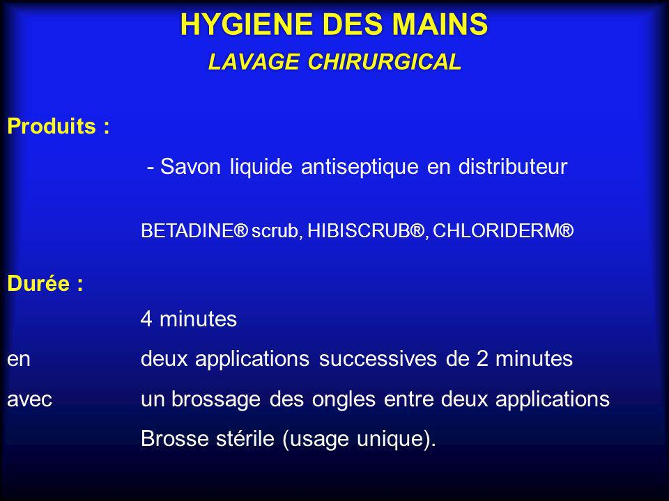 HYGIENE DES MAINS LAVAGE CHIRURGICAL