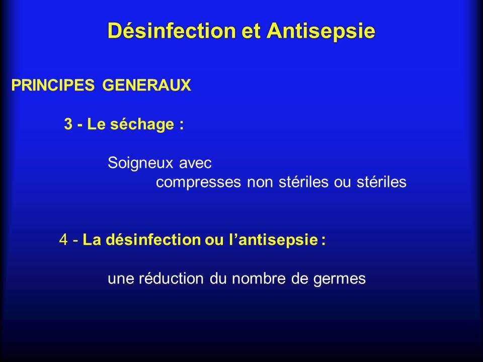 Désinfection et Antisepsie
