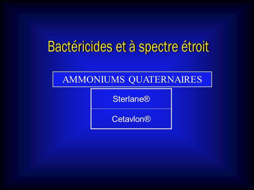 Bactéricides et à spectre étroit