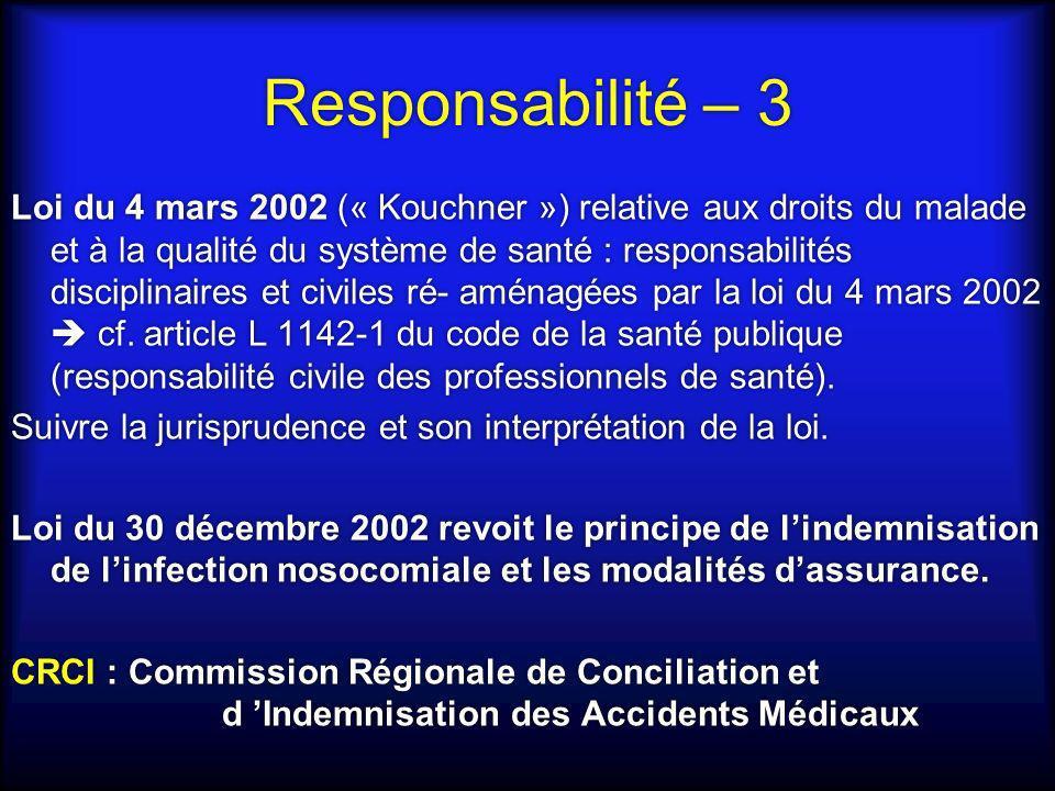 Responsabilité – 3