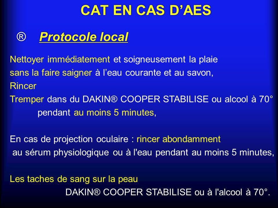 CAT EN CAS D'AES ® Protocole local