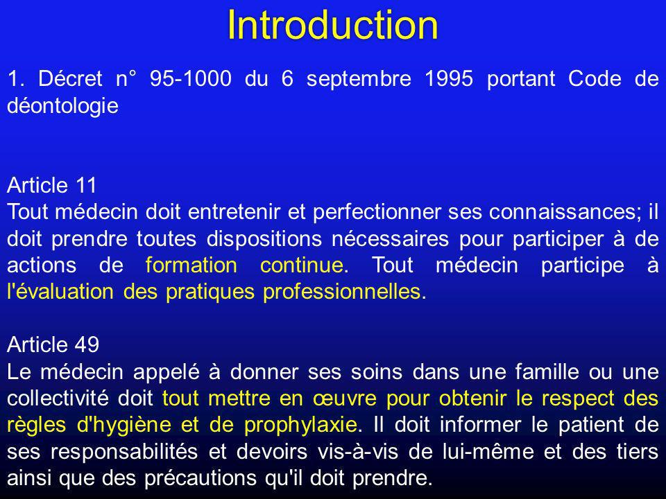 Introduction 1. Décret n° 95-1000 du 6 septembre 1995 portant Code de déontologie. Article 11.